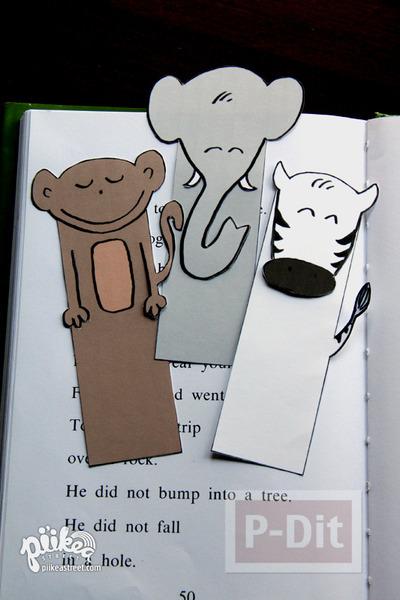 รูป 4 ที่คั่นหนังสือ ลายสัตว์ น่ารักๆ