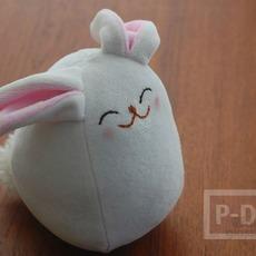 ตุ๊กตากระต่าย ทำเอง จากผ้านิ่มๆ