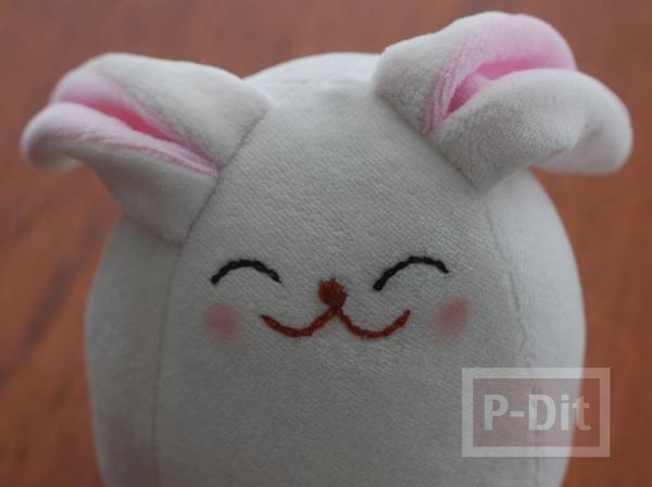 รูป 4 ตุ๊กตากระต่าย ทำเอง จากผ้านิ่มๆ