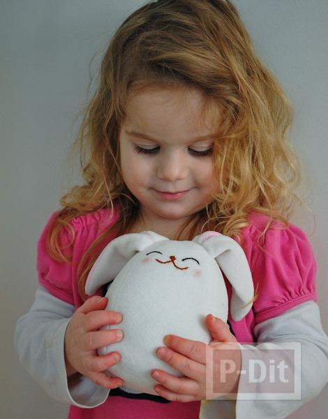 รูป 7 ตุ๊กตากระต่าย ทำเอง จากผ้านิ่มๆ