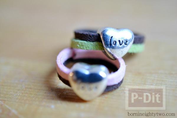 แหวนส่งรัก ทำเอง จากเชือก