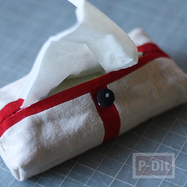 รูป 1 ทำที่ใส่กระดาษทิชชู จากผ้า
