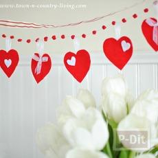 โมบายหัวใจ ของตกแต่งบ้านน่ารักๆ วันวาเลนไทน์