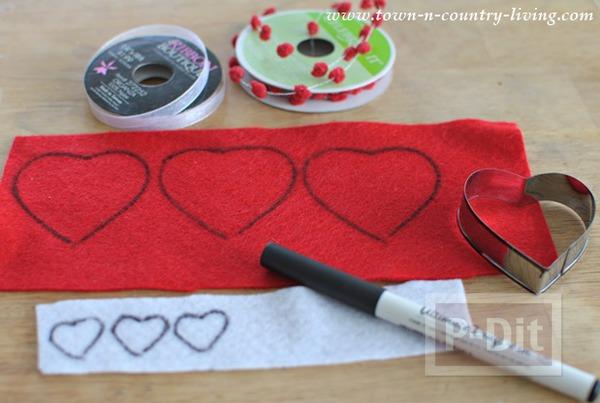 รูป 3 โมบายหัวใจ ของตกแต่งบ้านน่ารักๆ วันวาเลนไทน์