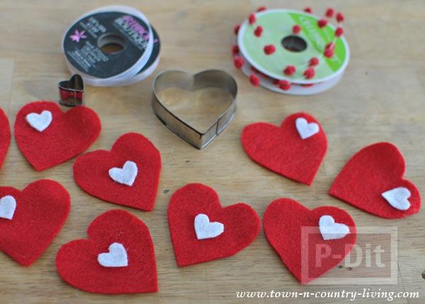 รูป 4 โมบายหัวใจ ของตกแต่งบ้านน่ารักๆ วันวาเลนไทน์
