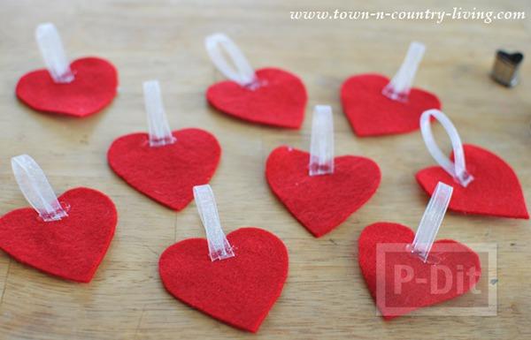 รูป 5 โมบายหัวใจ ของตกแต่งบ้านน่ารักๆ วันวาเลนไทน์