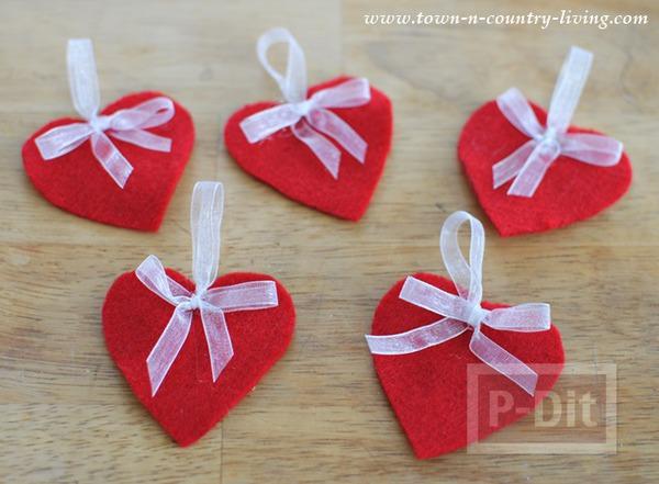 รูป 6 โมบายหัวใจ ของตกแต่งบ้านน่ารักๆ วันวาเลนไทน์