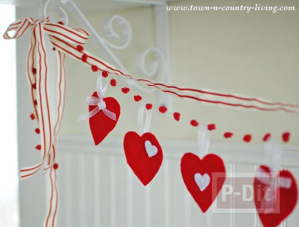 รูป 7 โมบายหัวใจ ของตกแต่งบ้านน่ารักๆ วันวาเลนไทน์