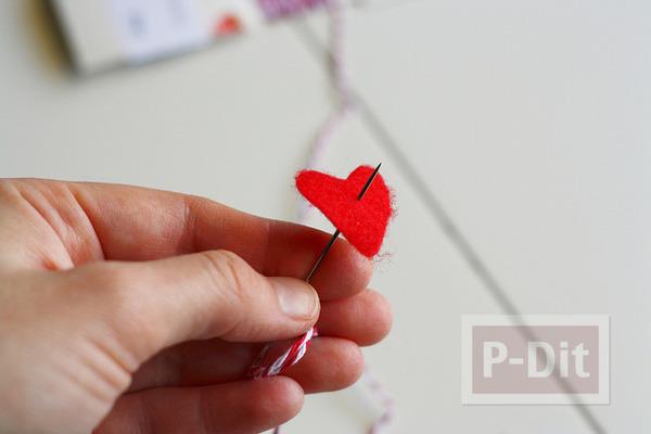 รูป 3 ของขวัญวันวาเลนไทน์ ขวดแก้วรัดเชือกร้อยหัวใจ