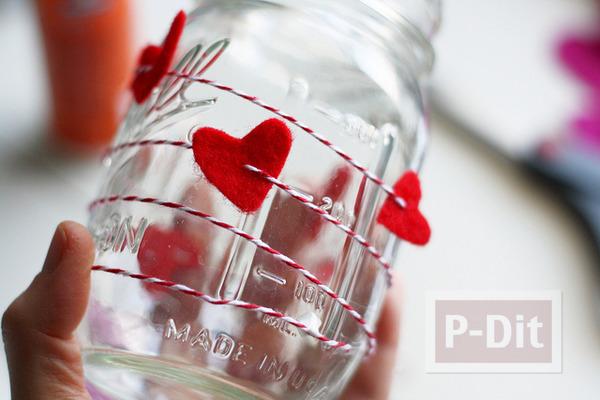 รูป 4 ของขวัญวันวาเลนไทน์ ขวดแก้วรัดเชือกร้อยหัวใจ