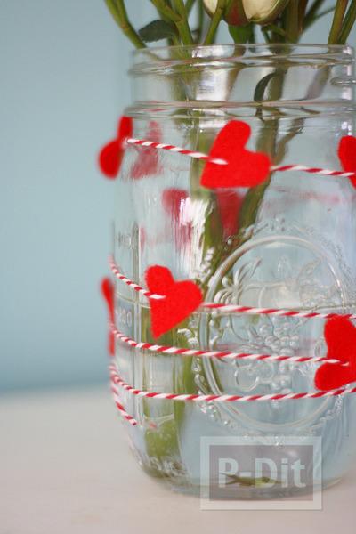 รูป 6 ของขวัญวันวาเลนไทน์ ขวดแก้วรัดเชือกร้อยหัวใจ