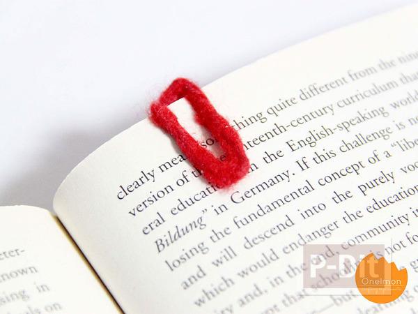 ที่คั่นหนังสือ ทำจากคลิปหนีบกระดาษ
