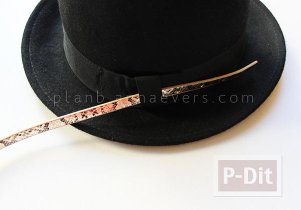 รูป 3 ตกแต่งหมวก จากเข็มขัดเส้นเล็ก