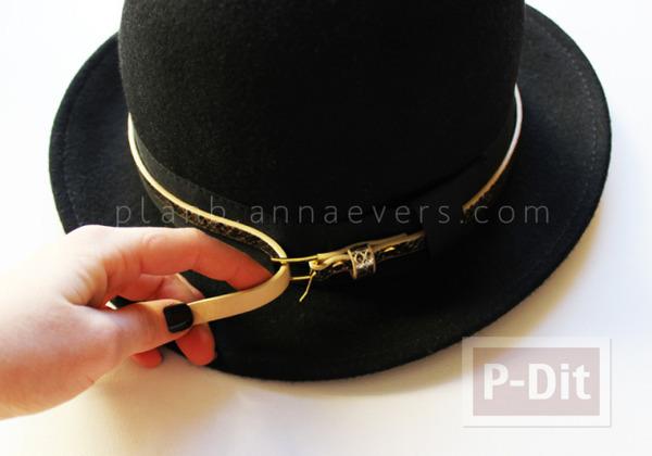 รูป 4 ตกแต่งหมวก จากเข็มขัดเส้นเล็ก