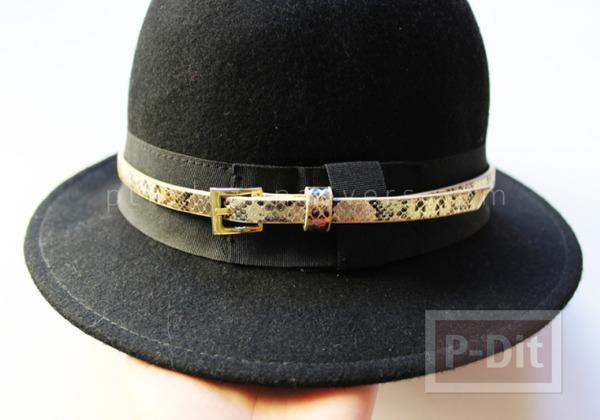 รูป 7 ตกแต่งหมวก จากเข็มขัดเส้นเล็ก