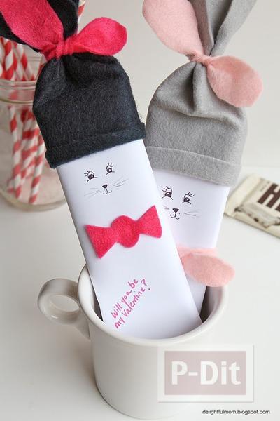 รูป 1 ของขวัญวันวาเลนไทน์ ช็อคโกแลต กระต่าย