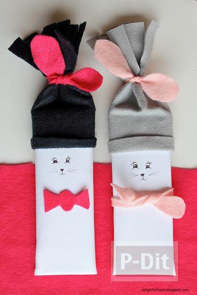 รูป 2 ของขวัญวันวาเลนไทน์ ช็อคโกแลต กระต่าย