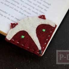 ไอเดียทำที่คั่นหนังสือ จากเศษผ้า