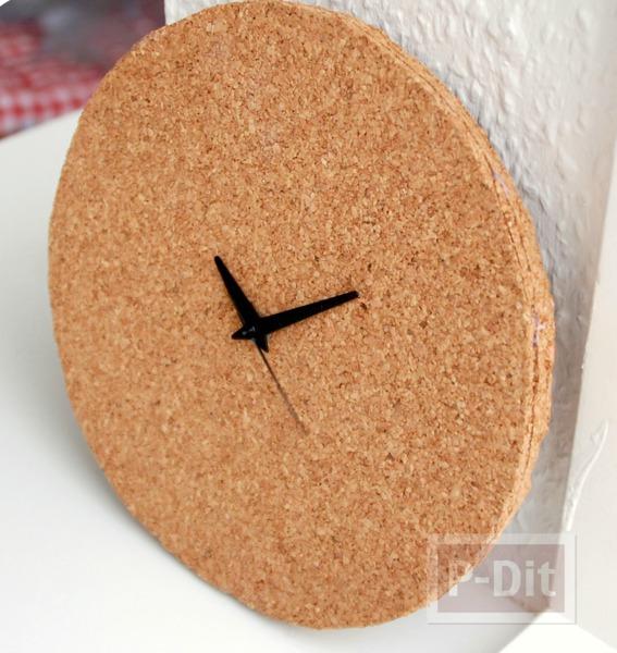 รูป 1 ไอเดียประดิษฐ์นาฬิกา ไม้ก็อก