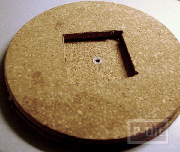 รูป 4 ไอเดียประดิษฐ์นาฬิกา ไม้ก็อก