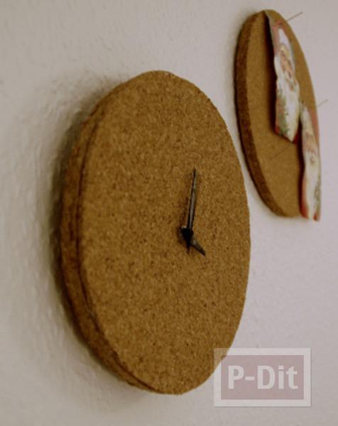 รูป 6 ไอเดียประดิษฐ์นาฬิกา ไม้ก็อก