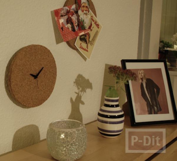 รูป 7 ไอเดียประดิษฐ์นาฬิกา ไม้ก็อก