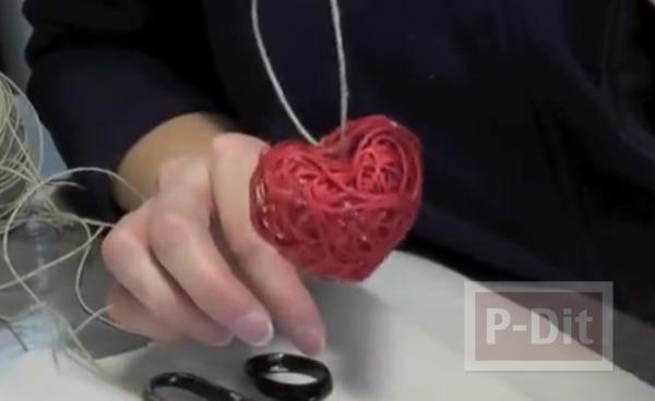 รูป 6 สร้อยรูปหัวใจ ทำเองจากเชือก