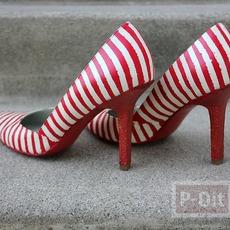 รองเท้าคัชชู ตกแต่งลายสวย