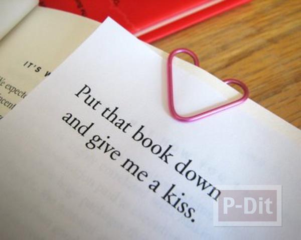 รูป 1 สอนทำคลิปหัวใจ สีชมพู (คลิปหนีบกระดาษ)