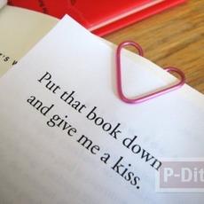 สอนทำคลิปหัวใจ สีชมพู (คลิปหนีบกระดาษ)