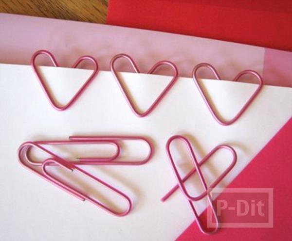 รูป 3 สอนทำคลิปหัวใจ สีชมพู (คลิปหนีบกระดาษ)
