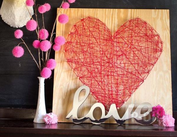 ของขวัญส่งรัก รูปหัวใจร้อยเชือก