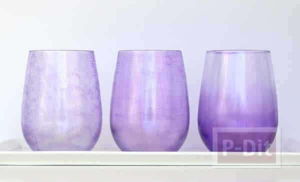 รูป 2 ระบายสีสวย ตกแต่งแก้วใส่เครื่องสำอางค์