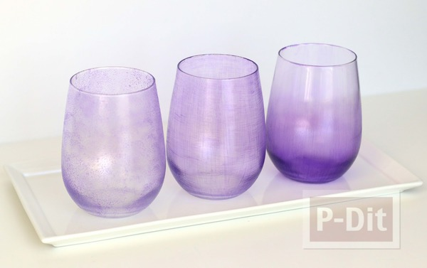 รูป 3 ระบายสีสวย ตกแต่งแก้วใส่เครื่องสำอางค์
