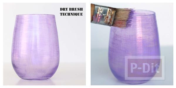 รูป 6 ระบายสีสวย ตกแต่งแก้วใส่เครื่องสำอางค์