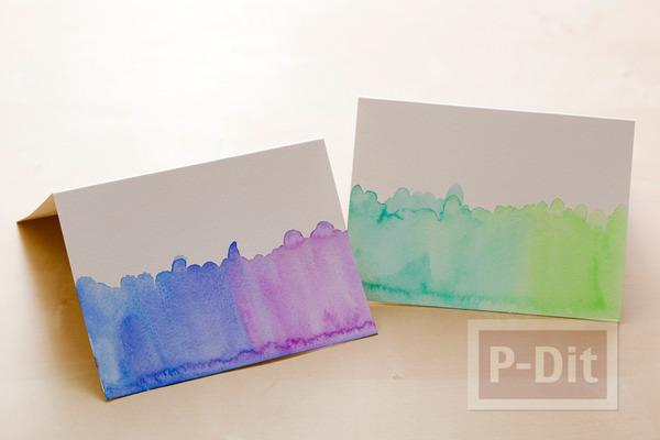 รูป 2 การ์ดสวยๆ ทำเอง ระบายสีน้ำ