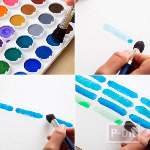 รูป 3 การ์ดสวยๆ ทำเอง ระบายสีน้ำ