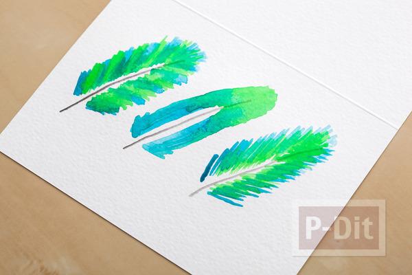 รูป 7 การ์ดสวยๆ ทำเอง ระบายสีน้ำ