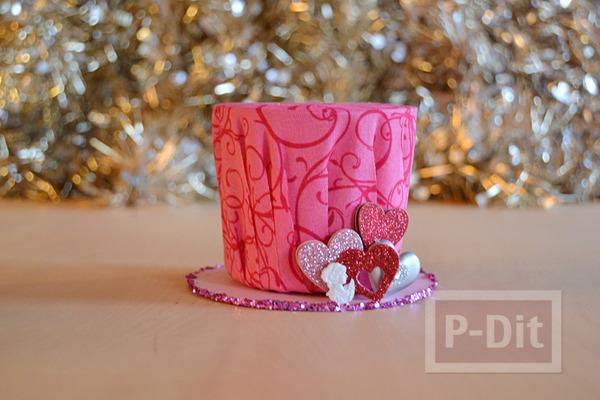 หมวกใบเล็ก ทำเอง สีชมพูหวานๆ