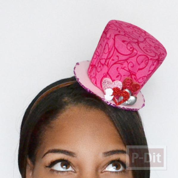 รูป 7 หมวกใบเล็ก ทำเอง สีชมพูหวานๆ