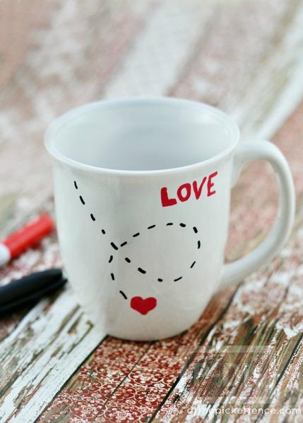 รูป 2 แก้วกาแฟส่งรัก วันวาเลนไทน์