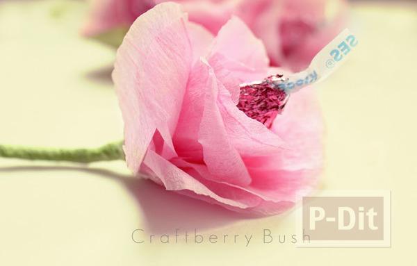 รูป 1 ดอกไม้ส่งรัก ทำจากช็อคโกแลต สีชมพู