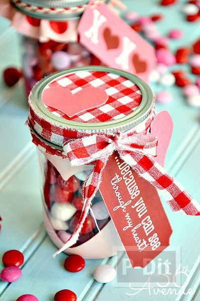 รูป 6 ไอเดียของขวัญ ขวดโหลใส่เม็ดช็อคโกแลต