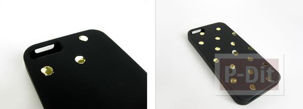 รูป 4 เคสไอโฟนลายจุด ทำเอง