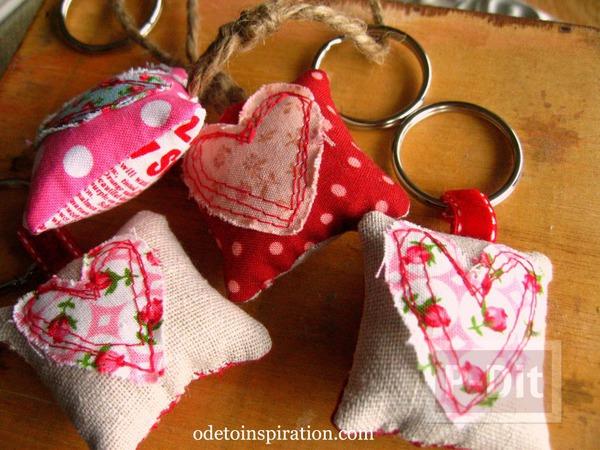 รูป 1 พวงกุญแจ หัวใจ ของขวัญน่ารักๆ
