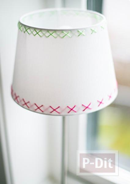 โคมไฟน่ารักๆ ประดิษฐ์ลายจากไหมพรมสีสวย