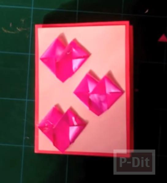 รูป 7 การ์ดวาเลนไทน์ หัวใจริบบิ้น หัวใจกระดาษ