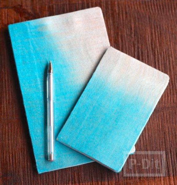 สมุดโน๊ตเล่มเล็ก ห่อปกด้วยผ้าบาง สีอ่อน