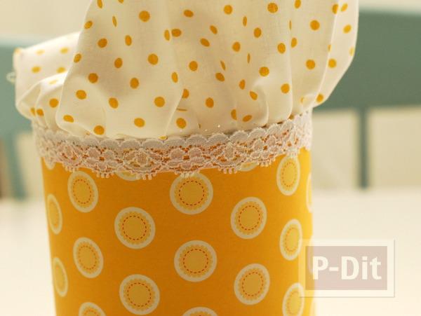 รูป 6 กระป๋องใส่ขนม ห่อผ้าสีหวาน