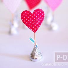 ของขวัญส่งรัก ช็อคโกแลตพร้อมหัวใจกระดาษ